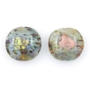 Lamp Bead Coin Large 2Pc 25.5x2.5mm Toffee Cream